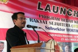 Kementan siap entaskan kemiskinan di Pasaman melalui Program BeKeRja