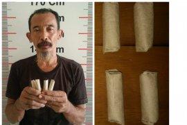 Penjual ganja di Pangkalan Susu Langkat ditangkap polisi