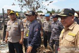 Gubernur dan Kapolda Kalsel tinjau lokasi kebakaran di Sebuku Kotabaru