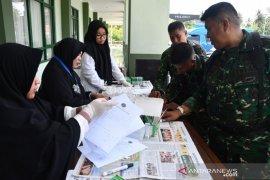 Prajurit Korem 133 Gorontalo jalani tes urine