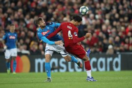 Liga Champions, Napoli curi satu poin dari Anfield sambil tunda kelolosan Liverpool