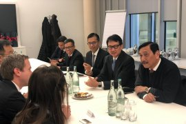 Luhut mengundang perusahaan kimia asal Jerman BASF untuk berinvestasi di Indonesia