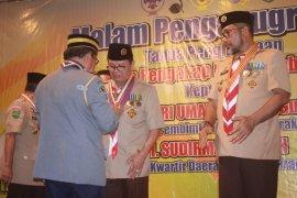 Gubernur Jambi dianugerahi penghargaan dari Pramuka Sabah Malaysia