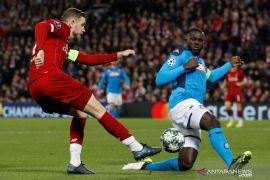 Napoli tahan imbang Liverpool di Anfield