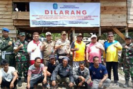 Tim gabungan Pemkab Bangka hentikan aktivitas pembukaan lahan sawit