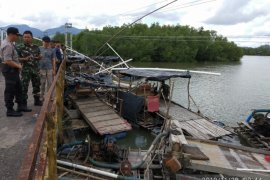 Koramil Belinyu amankan 23 unit mesin tambang timah ilegal