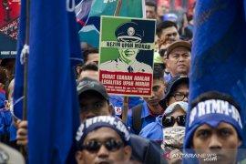 Unjuk Rasa Buruh Jawa Barat