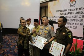 KPU Malut beri penghargaan ke Polda sukseskan pemilu