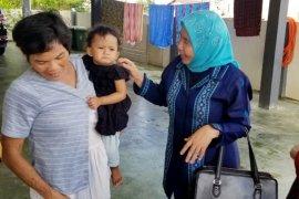 Derita hidup terlantar di negeri orang, Mildah bersama 5 anaknya akhirnya pulang ke Sumut
