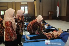 DWP Kabupaten Lebak kumpulkan puluhan kantong darah
