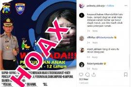 Informasi penculikan anak Singkawang dipastikan hoaks