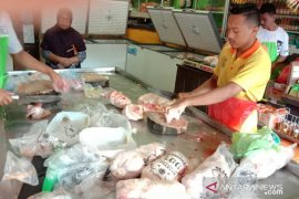 Harga daging ayam beku di pasar tradisional Ambon naik