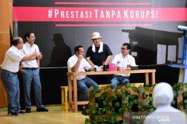 Empat menteri muda bermain peran sampaikan kampanye antikorupsi di SMK 57 Jakarta