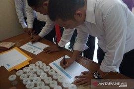 BNNK Cianjur lakukan tes urine 200 anggota Polres