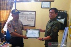 Ungkap kasus pencurian kamera trap,  BBKSDA Sumut berikan penghargaan kepada Polsek Batang Toru