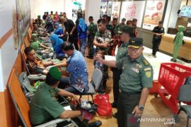 Peringati Hari Juang TNI AD, Korem 045/Gaya gelar donor darah