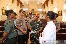 Jelang Natal, TNI dan Polri di Medan tinjau gereja