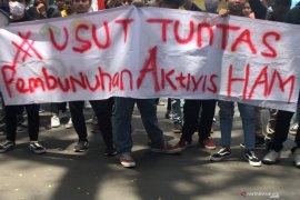 Unjuk rasa Hari HAM di Malang