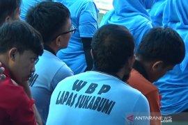 Lapas Nyomplong Sukabumi kelebihan  daya tampung