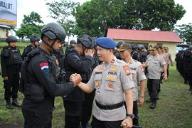 Kapolda Malut terima satu SSK Brimob yang bertugas di Papua Barat