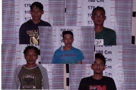 Lima pemilik ganja ditangkap Polisi Pangkalan Brandan Langkat