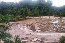 Sembilan rumah hanyut dan roboh akibat terseret banjir yang melanda Solok Selatan