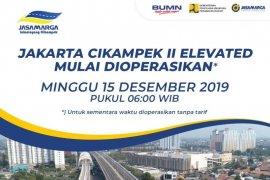 Tol layang Japek dibuka untuk publik Minggu 15 Desember