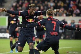 Liga Jerman, Leipzig rebut pucuk klasemen setelah hancurkan Duesseldorf
