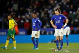 Liga Inggris, Rekor kemenangan beruntun Leicester terhenti di tangan Norwich