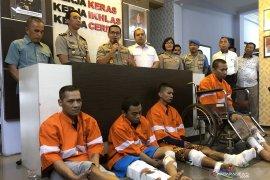 Empat tahanan Polresta Malang Kota yang kabur , ditangkap