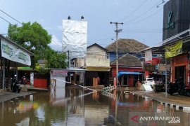 Pusat perekonomian Kota Pangkalpinang dilanda banjir