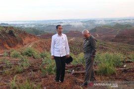Presiden Jokowi tinjau lokasi ibu kota  baru