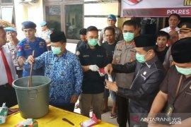 Polres Tanjungbalai musnahkan 273 gram sabu-sabu