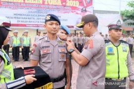 Kapolres Tanjungbalai pimpin apel gelar pasukan Ops Lilin Toba 2019
