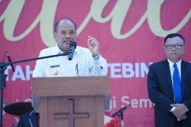 Wali kota hadiri perayaan Natal ASN Pemkot Tebing Tinggi
