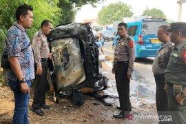 Mobil terbakar di Cileungsi dipicu tumpahan bensin