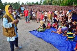 BPBD Maluku berikan terapi psikososial kepada warga di Pulau Haruku