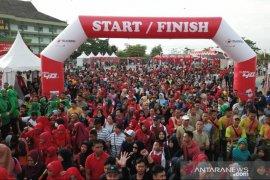 Peringati Hari Juang, ribuan warga ikuti jalan sehat Telkomsel