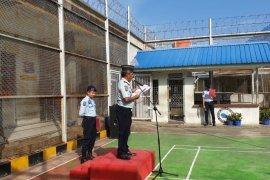 11 narapidana Rutan Kelas II B Tanjung Pura Langkat dapat remisi