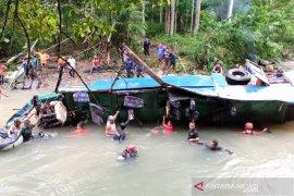 16 warga Bengkulu jadi korban meninggal kecelakaan bus Sriwijaya
