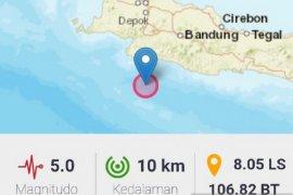 BPBD belum terima laporan kerusakan akibat gempa Sukabumi