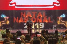 Ribuan umat Kristiani sambut Presiden dan Ibu Negara di Perayaan Natal Nasional