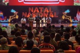 Saat Natal, Jokowi cerita keakraban Gus Dur dan Romo Mangun