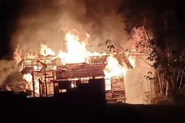 Rumah dinas TNI di Hulu Gurung Kapuas Hulu terbakar