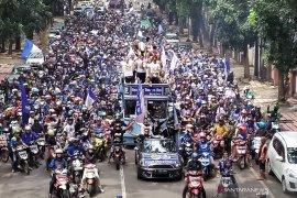 Ribuan bobotoh konvoi sambut Persib Putri juara Liga 1 Putri