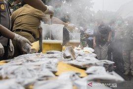 Pemusnahan barang bukti miras dan narkotika