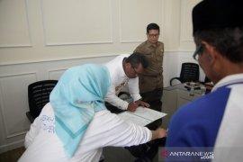 Lima Pejabat Setda Pandeglang yang dilantik lakukan sertijab