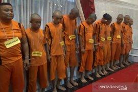 Polres Sukabumi Kota tangkap 10 pelaku kriminal jelang pergantian tahun