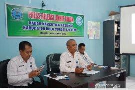 Pers release akhir tahun BNNK HSS : Penyalahgunaan Narkoba meningkat tahun 2019