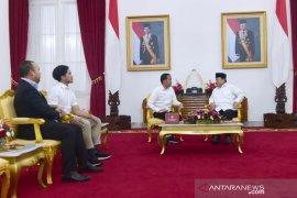 Awali 2020, Presiden Jokowi terima Menhan Prabowo di Yogyakarta